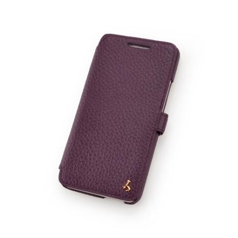 Story皮套王- New HTC One 硬殼式側翻 24K金飾 荔枝紋紫色現貨 03591-112