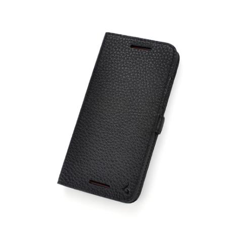 Story皮套王- HTC Butterfly S 純牛皮折疊式側翻 荔枝紋黑色現貨 03780-109
