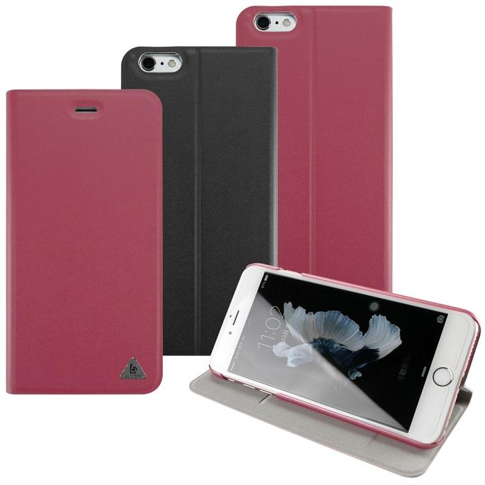 LUCCIDA iPhone6 Plus/iPhone6s Plus 類真皮紋隱磁皮套