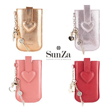 SunZa Love SunZa 心型真皮皮套(適合4吋以下)