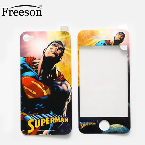 Freeson 卡通系列 iPhone 4/4S 前後保護貼 - SUPERMAN