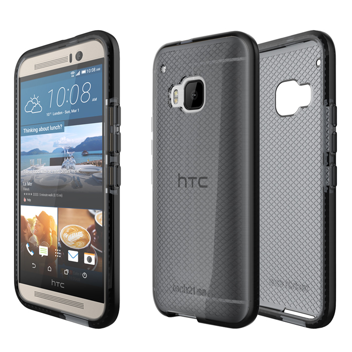 Tech21 英國超衝擊 Evo Check HTC One M9 防撞軟質格紋保護殼 - 透黑