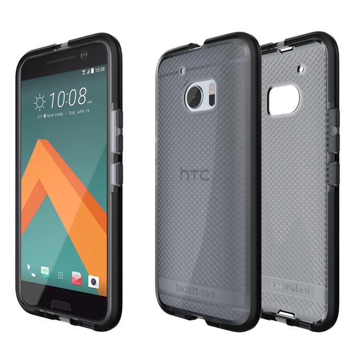 Tech21 英國超衝擊 Evo Check HTC 10 防撞軟質格紋保護殼 - 透黑