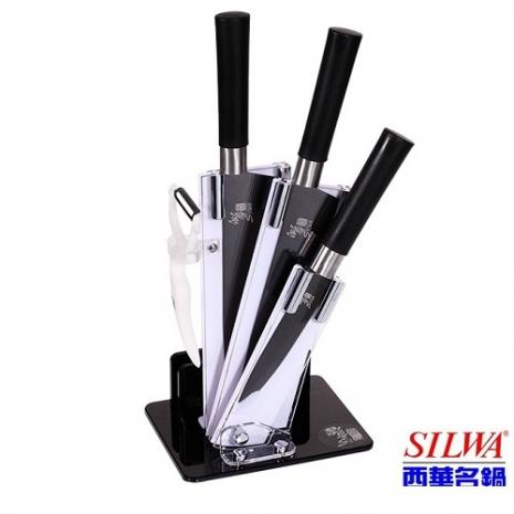 西華SILWA 黑晶鑽碳刀具5件組【特賣】