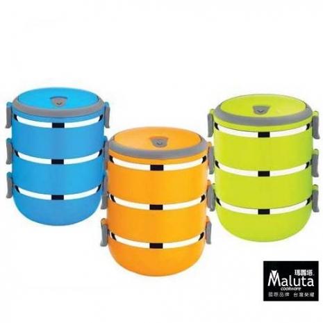 Maluta瑪露塔 日式彩漾保溫餐盒/便當盒(三層) 1入-特賣