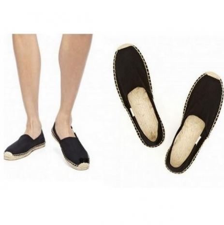 ☆限時優惠8折☆Soludos espadrilles   麻底帆布鞋 黑色基本款草編鞋 W9