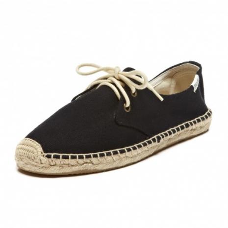 ☆限時優惠8折☆Soludos espadrilles   麻底帆布鞋 黑色綁帶款草編鞋 W9