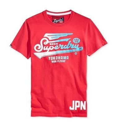 ☆限期優惠69折☆superdry 極度乾燥  men t-shirts 英格蘭HIGH FLYERS EURO T恤 (紅色) 官網訂價NT2250