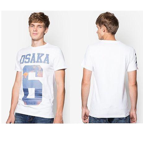 ☆限期優惠69折☆superdry 極度乾燥  men t-shirts Osaka 6 T恤 (白色) 官網訂價NT2250
