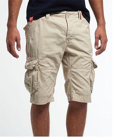 ☆限期優惠69折☆superdry 極度乾燥  men shorts Core Cargo Lite多口袋工作短褲 (石色)官網訂價NT4250