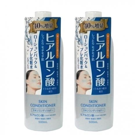 (日本Naris up)玻尿酸保濕敷顏化妝水-500ml(二入組)
