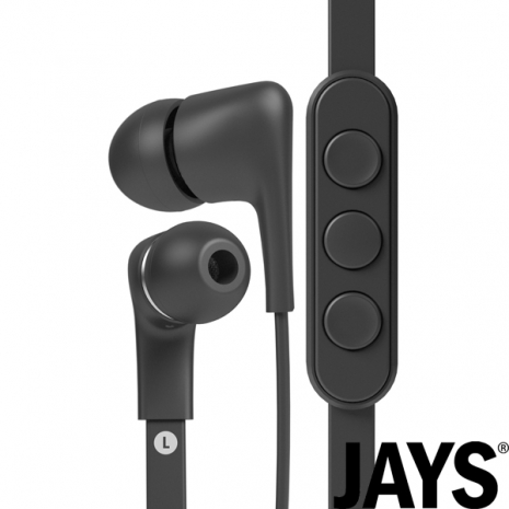 ★福利品★【瑞典JAYS】A-JAYS FIVE 高階耳機(iOS版‧黑)