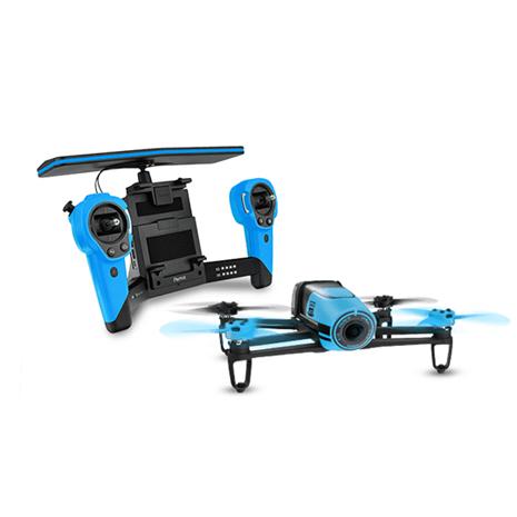 【Parrot】BebopDrone +Skycontroller 空拍機飛行器+遙控器組(藍色)