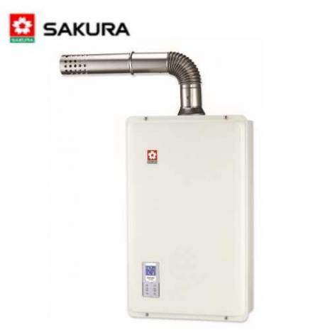 【櫻花】SH-1633 強制排氣屋內大廈型數位恆溫熱水器 16L(天然瓦斯)