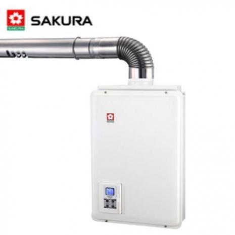 【櫻花】SH-1680 強制排氣屋內大廈型密閉式數位恆溫熱水器 16L (桶裝瓦斯)
