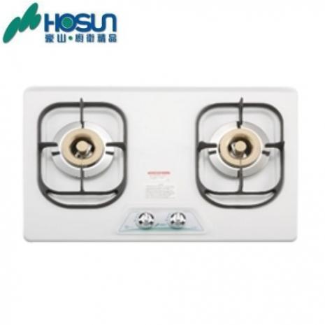 豪山ST-2077P/S歐化檯面爐(琺瑯白-天然瓦斯)