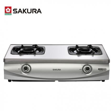 櫻花 G-5900S兩口雙炫火珍珠壓紋台爐(桶裝瓦斯)