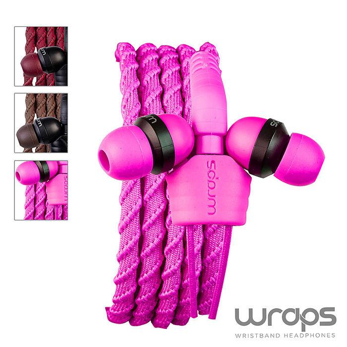 【Wraps】Classic Wristband Headphone? Pink 經典編織款手環耳機