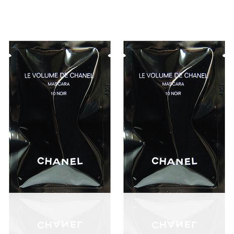 CHANEL 香奈兒 完美比例濃密睫毛膏 #10黑釉 1ml x2入