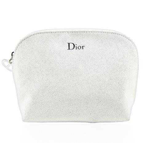 Dior 迪奧 閃耀珠光 化妝包 白色