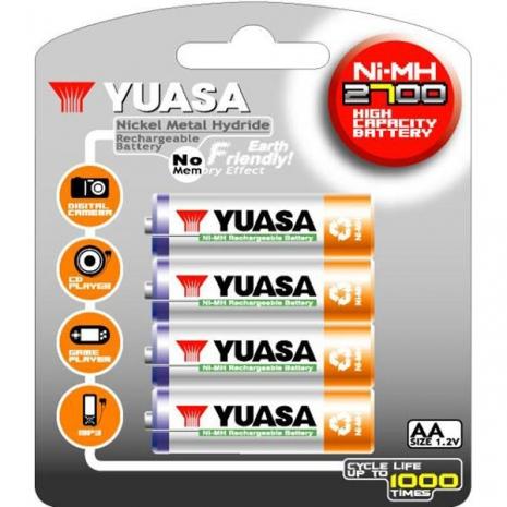 日本湯淺YUASA 鎳氫電池 3號 AA2700*4