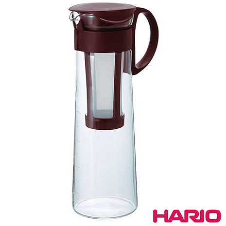 日本製造HARIO 冷泡冰滴咖啡壺/泡茶壺-咖啡色1000ML(含濾網)HAR-MCPN14