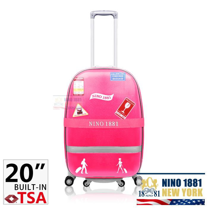 NINO-1881 20吋拉桿行李/旅行箱_粉紅色