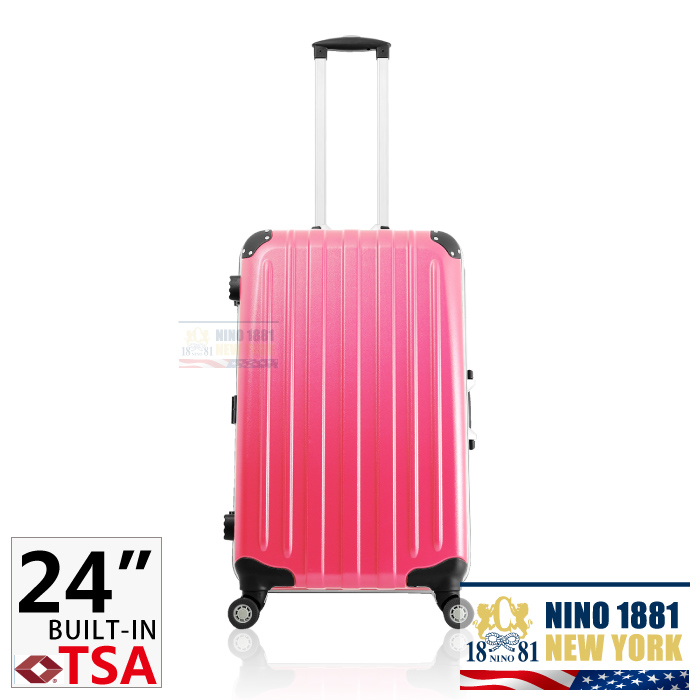 NINO-1881 24吋ABS拉桿行李/旅行箱_桃紅色