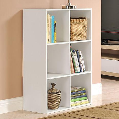 特賣↘【德萊妮】DIY菲爾六格櫃/展示櫃/書櫃/收納櫃/隔間櫃(白色)