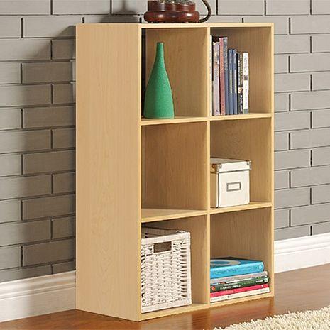 特賣↘【德萊妮】DIY菲爾六格櫃/展示櫃/書櫃/收納櫃/隔間櫃(白橡色)