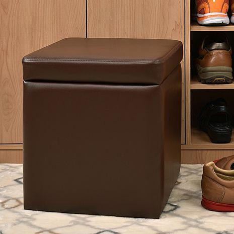 特賣↘【德萊妮】吉尼爾收納椅/儲藏椅/玄關椅/掀蓋椅(咖啡色)
