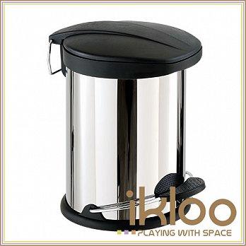 【ikloo】不鏽鋼腳踏垃圾桶-5L-特價