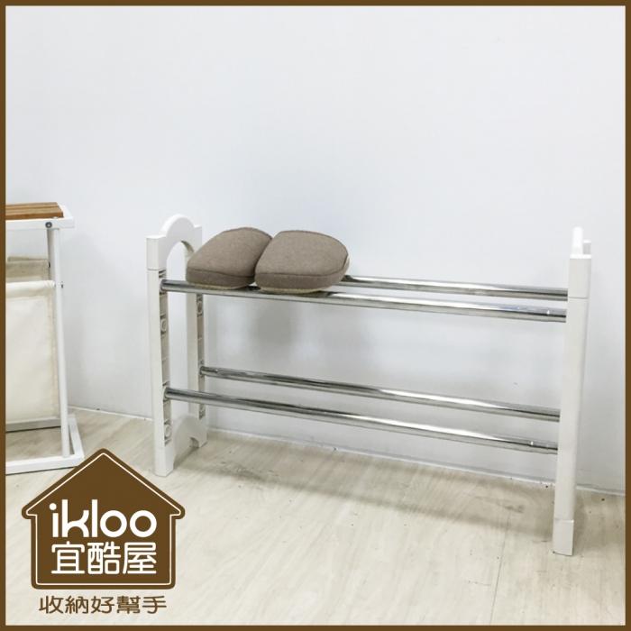 特價【ikloo】日系可疊伸縮鞋架