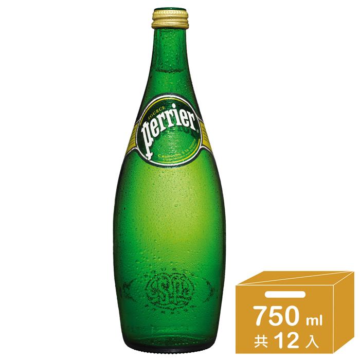 法國Perrier 氣泡天然礦泉水(750mlx12入)