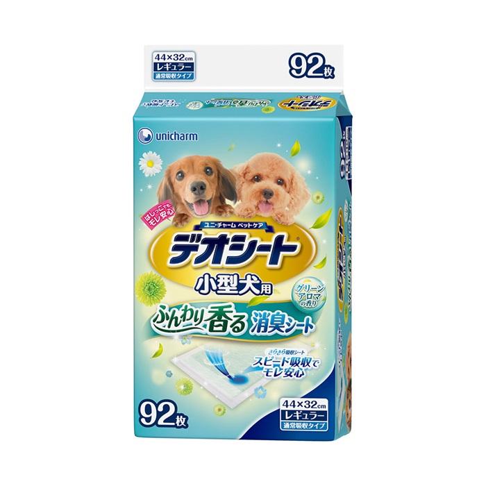 日本Unicharm消臭大師小型犬森林香狗尿墊M92片