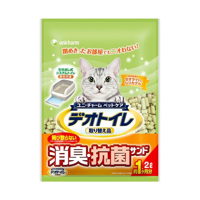 日本Unicharm消臭大師一月間消臭抗菌貓砂2L