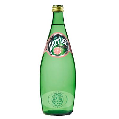 法國Perrier 氣泡天然礦泉水-葡萄柚口味(750ml×12入)