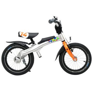 RENNRAD 鋁合金變形滑步車/腳踏車兩用童車14吋_橘
