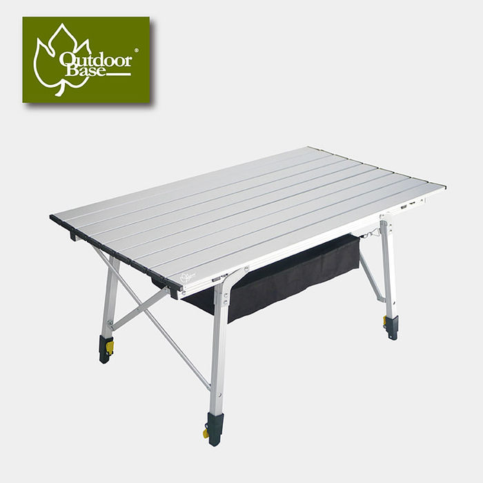 【Outdoorbase】八爪魚鋁合金鋁捲桌 M(露營 戶外 野餐 餐桌 折合桌 料理桌 )