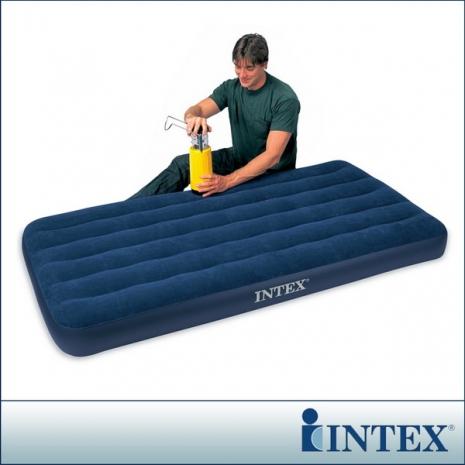 【INTEX】單人加大植絨充氣床墊(寬99cm)