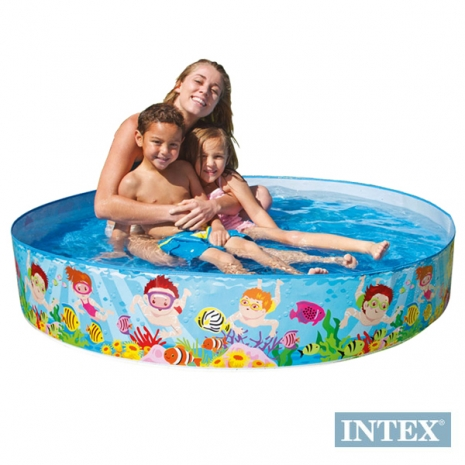 【INTEX】免充氣幼童戲水游泳池 (直徑152cm)