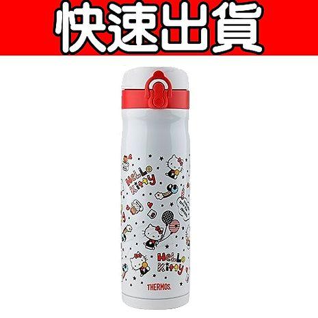 THERMOS膳魔師 Hello Kitty不鏽鋼真空保溫瓶500ml (JMY-501KT)