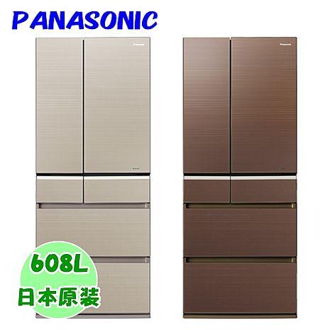 ★加碼贈好禮★【Panasonic國際牌】日本進口608L玻璃無邊框六門冰箱 NR-F611VG