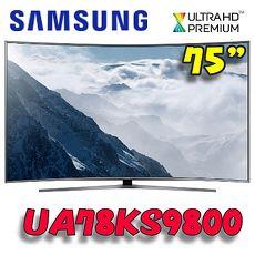 ~破盤下殺9折~Samsung 三星 78吋4K UHD LED超薄曲面量子液晶電視 UA