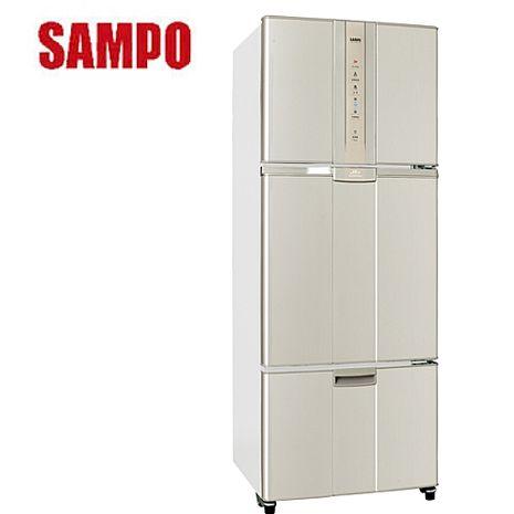 【SAMPO聲寶】455L智慧節能變頻一級三門冰箱 SR-N46DV(金Y2)