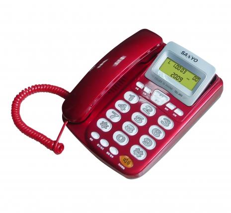 三洋 來電顯示有線電話TEL-805(紅)