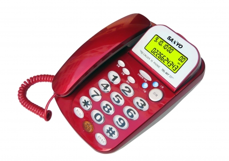 三洋 來電顯示有線電話TEL-807(火星紅)