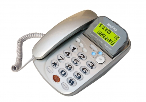 三洋 來電顯示有線電話TEL-807(東京銀)