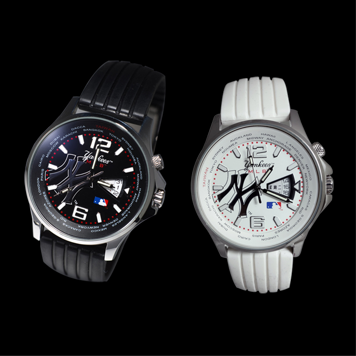 MLB 洋基時尚氚氣石英錶
