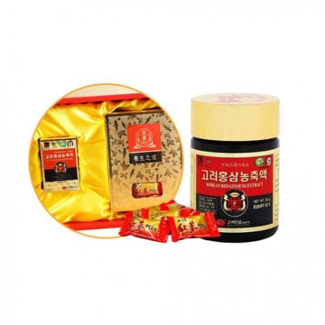 韓國金蔘伴手禮盒組-高麗紅蔘精(50g/罐)+紅蔘糖(200g/盒)